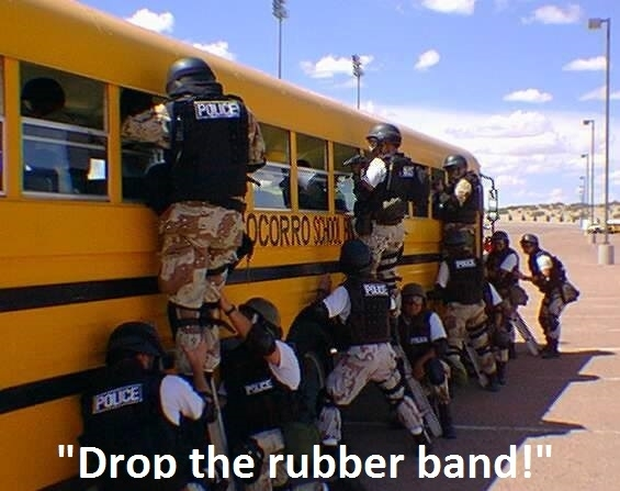 Funny Meme Bus : Swat responds to person carrying a weapon on a school bus meme guy