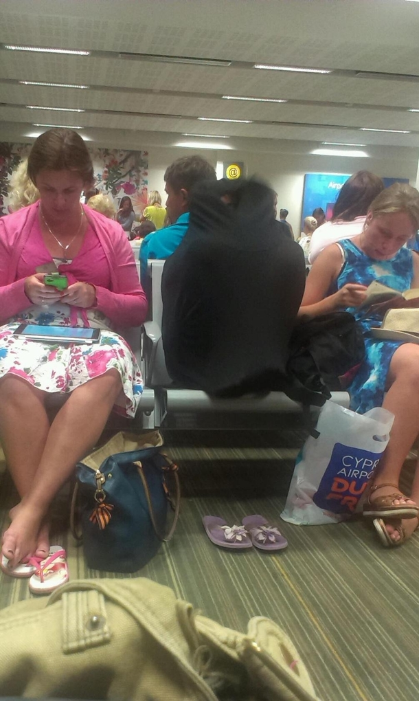 The air-conditioning was too cool for some people at Cyprus airport
