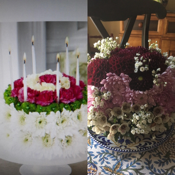 Miraculous The Birthday Cake Flowers My Sister Ordered For My Birthday And Funny Birthday Cards Online Alyptdamsfinfo