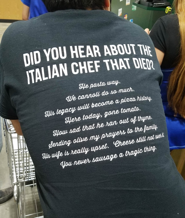 The Italian chef who died