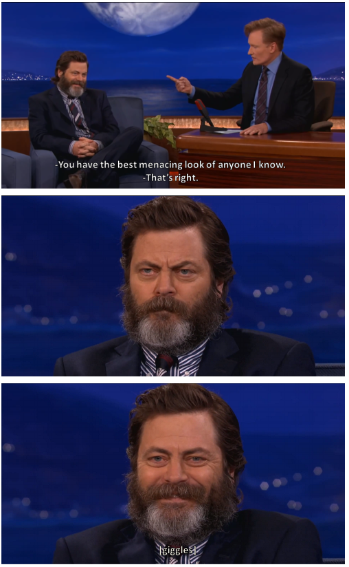 The menacing look of Nick Offerman