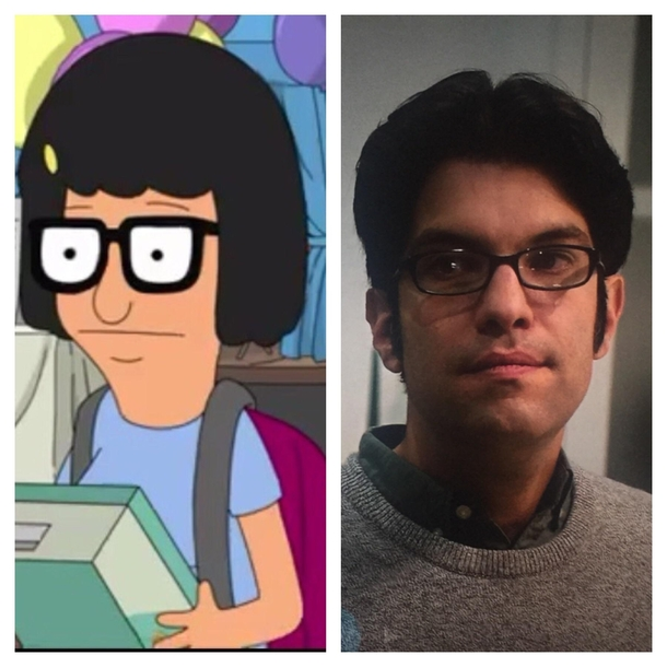 the resemblance between tina belcher from bobs burgers and the actor