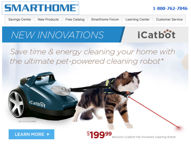 The ultimate pet-powered cleaning robot