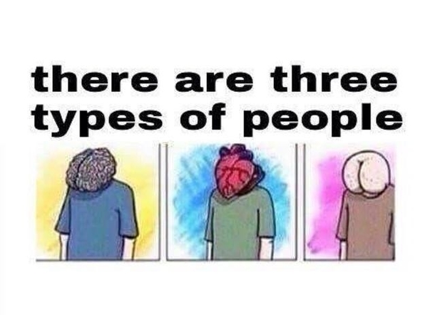 there are three types of people meme guy