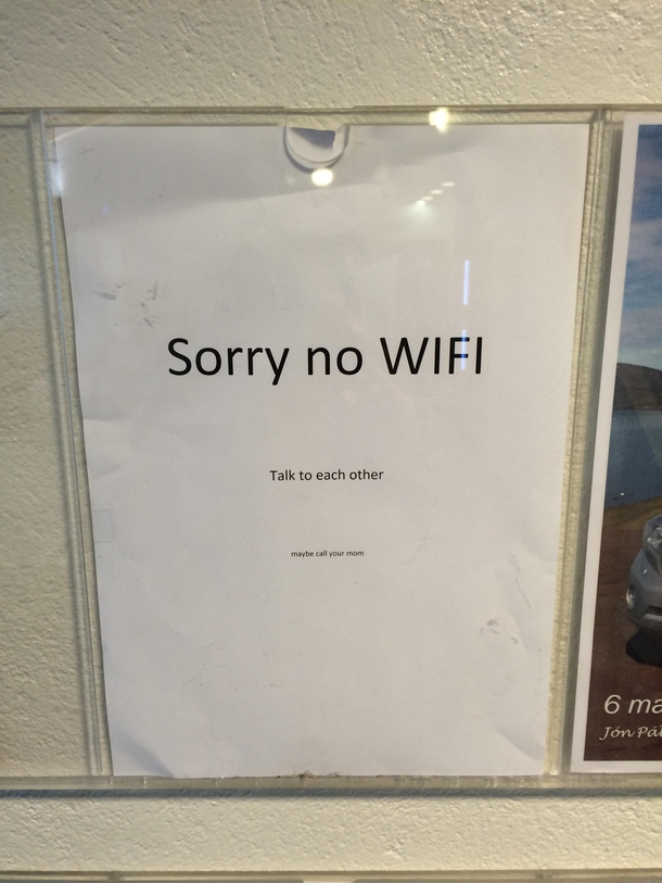 There is no wifi on the ferry in Iceland