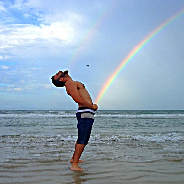 there was a rainbow at the beach today 202929 there was a rainbow at the beach today meme guy