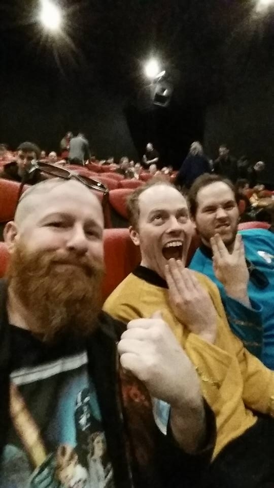 these guys at the midnight screening of Starwars