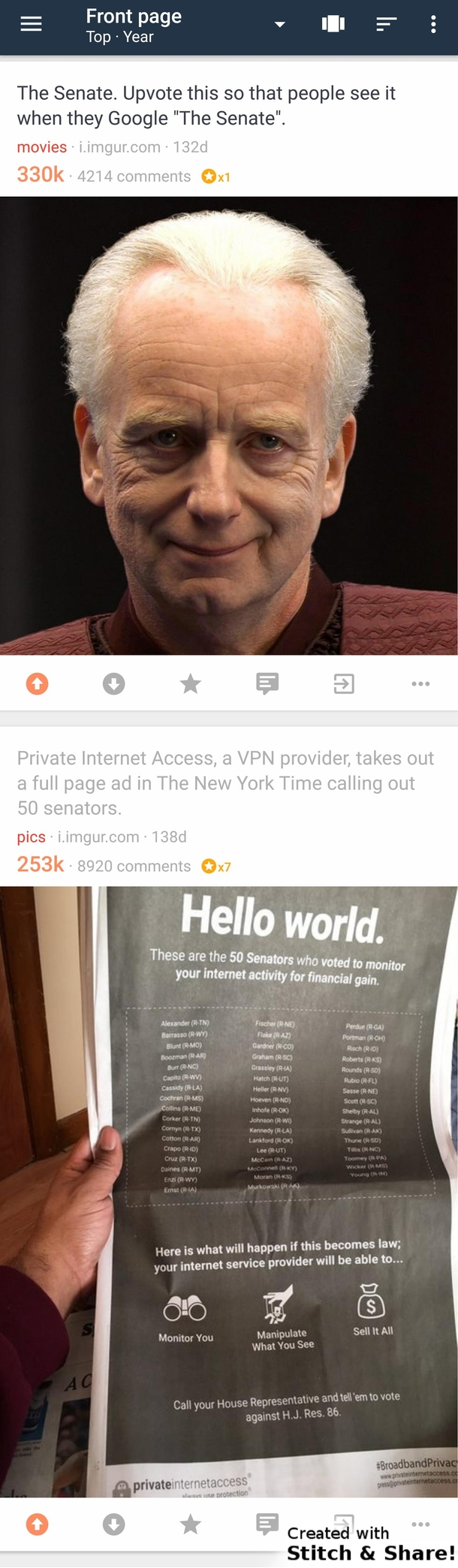 These two posts on my Frontpage this morning