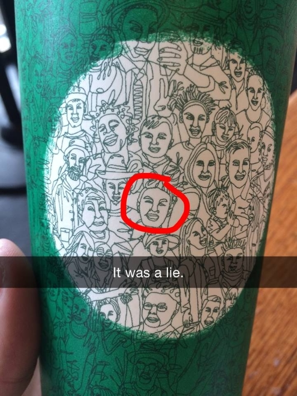 They said the new Starbucks cup art was made with one line but