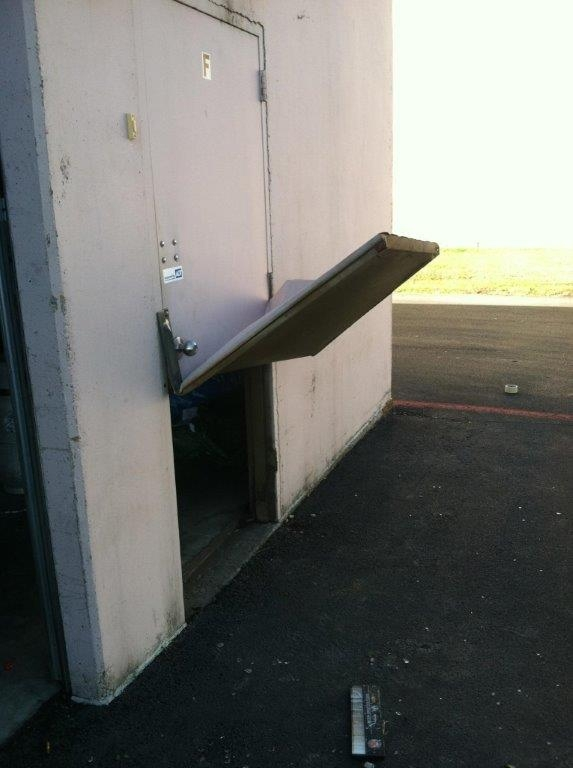 Thieves hit our store last night This is how they circumvented the door alarm