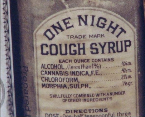 This actual cough syrup from the s