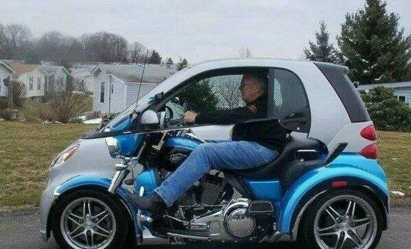 this is the only way a smart car can look cool 101591 this is the only way a smart car can look cool meme guy