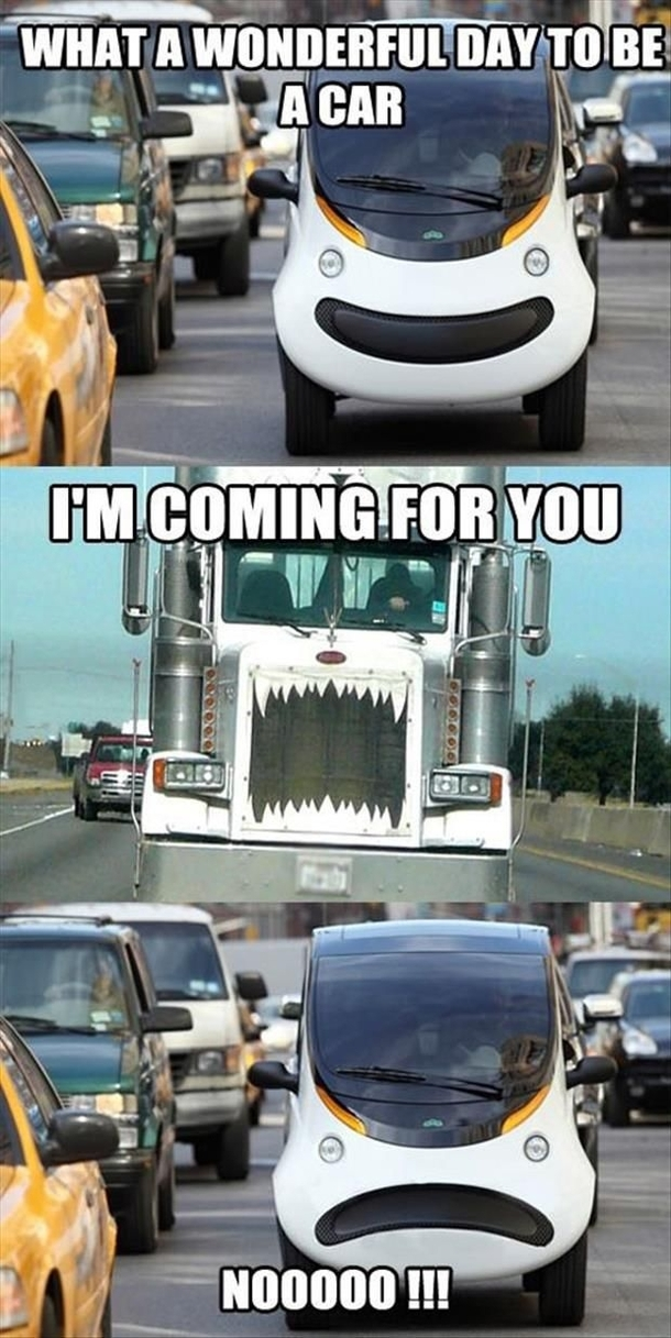 This Is Why I Hate Passing Semi Trucks Meme Guy