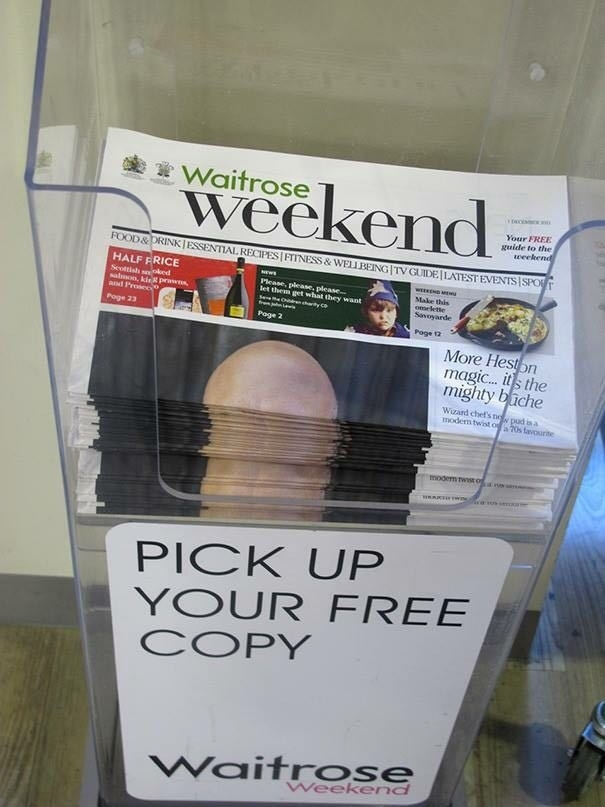 This is why you never put bald guy on the cover of a newspaper