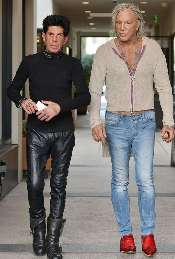 This photo of Mickey Rourke looks like theyre prepping for an offbrand Zoolander movie