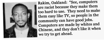 TIL computers are racist