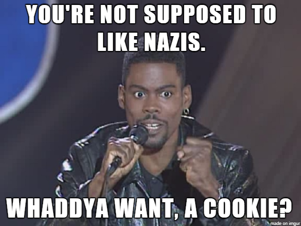 To everybody proudly posting about how much they hate Nazis