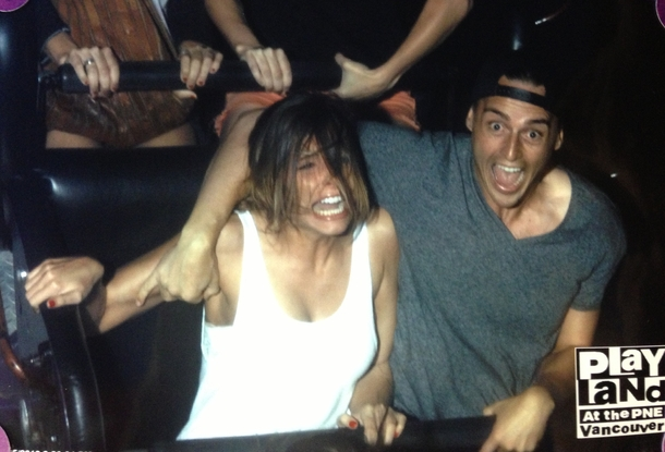 Tog min kæreste på hendes første Roller Coaster nogensinde jeg-7926