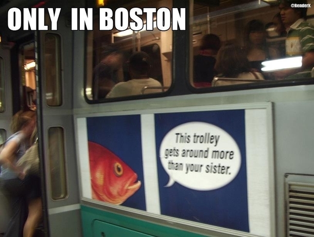 Took this picture when I was on vacation in Boston Wow They have no shame huh