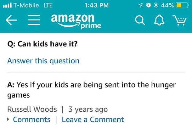 Top question on an Amazon listing for a giant machete