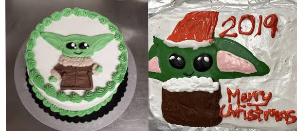 Tried To Copy Pinterest Baby Yoda Cake Meme Guy