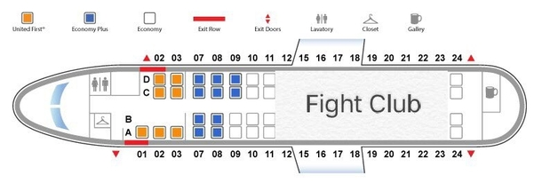 United Airlines is proud to present their new club class
