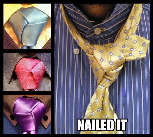 Use the Trinity Knot Reddit said Youll look so dapper - Meme Guy