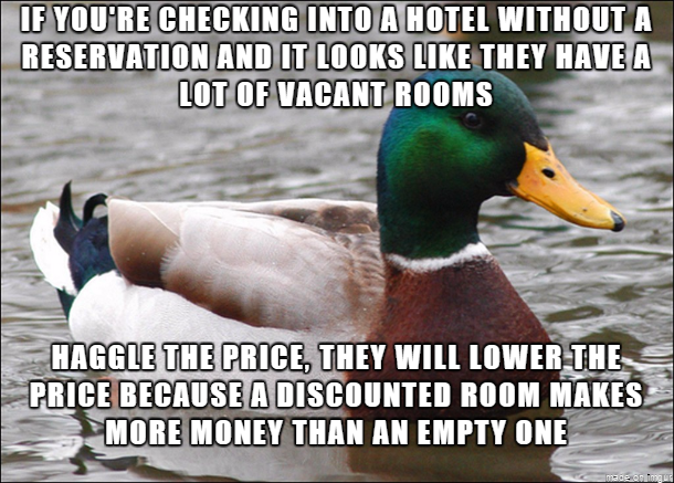 Used to work at a hotel Ive seen the price go from  down to