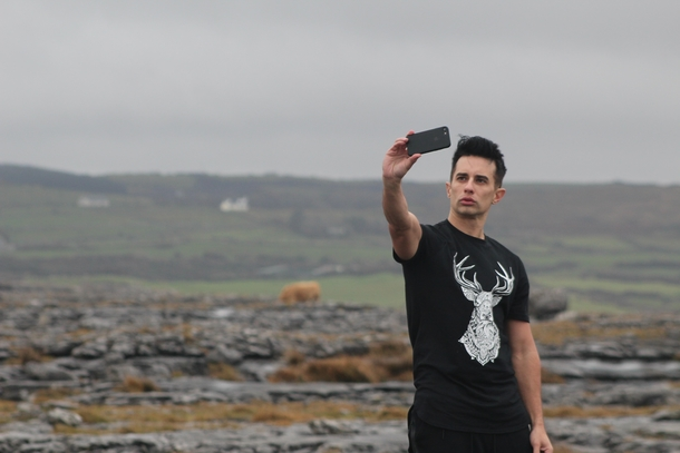 Was alone when a guy walked  yards to take a duck-face selfie right in my shot of the Irish countryside