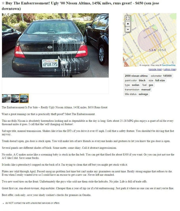 Was Browsing Craigslist For A Reasonably Priced Used Car I