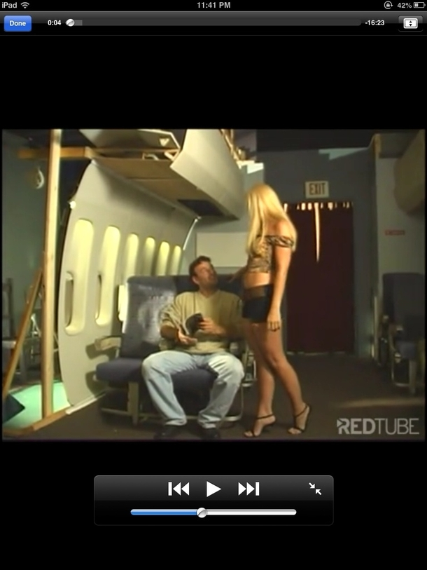 Was watching stewardess porn when suddenly