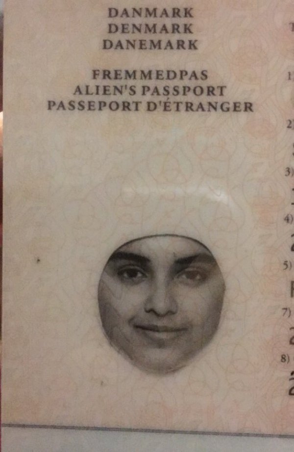 Wearing the wrong colored Hijab for a passport photo