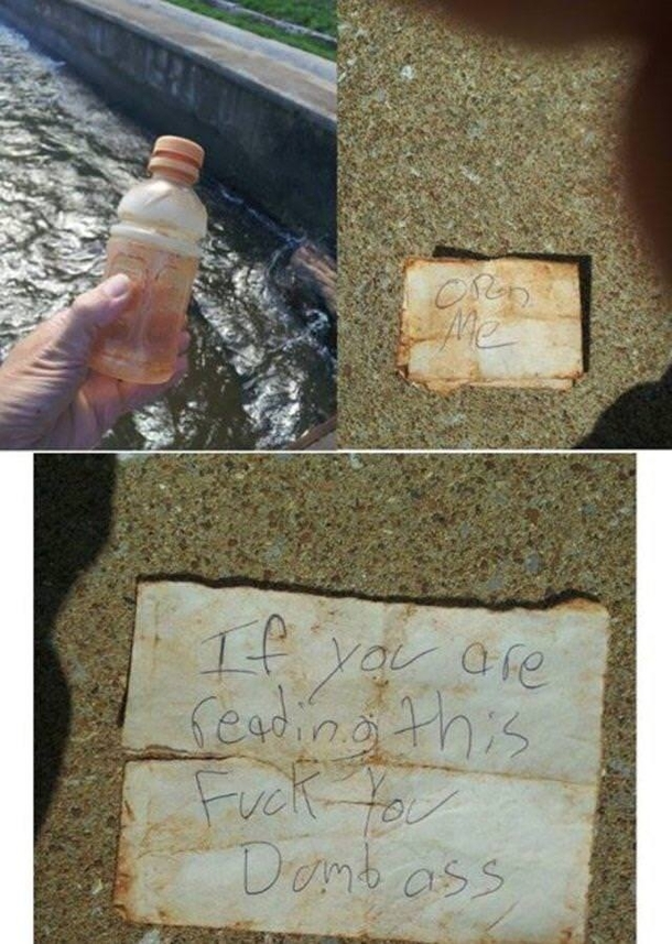 When you find a message in a bottle