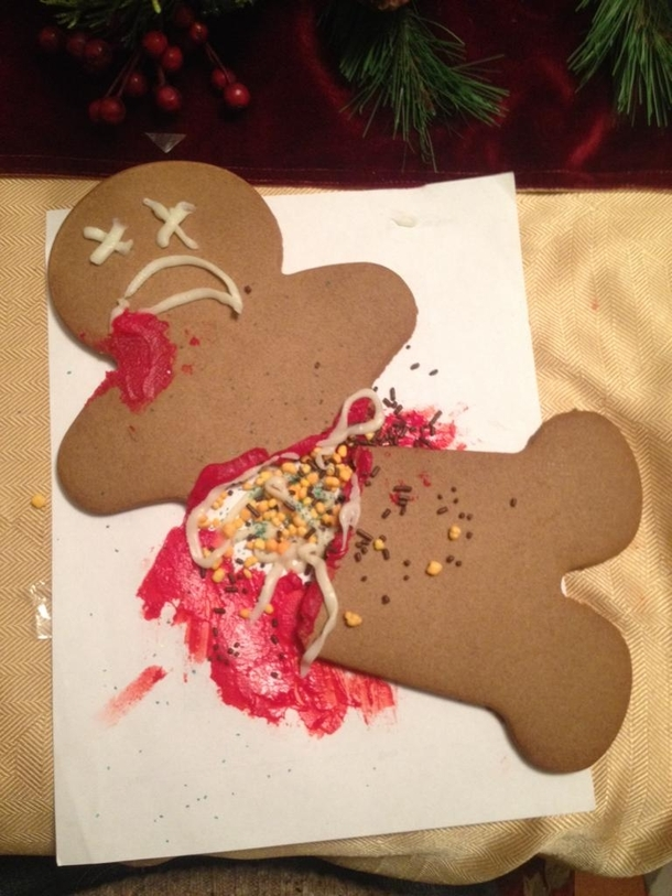 while making gingerbread men with my girlfriend mine broke I worked with what I had
