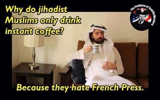 Why Jihadist Muslims only drink instant coffee - Meme Guy #instantCoffee