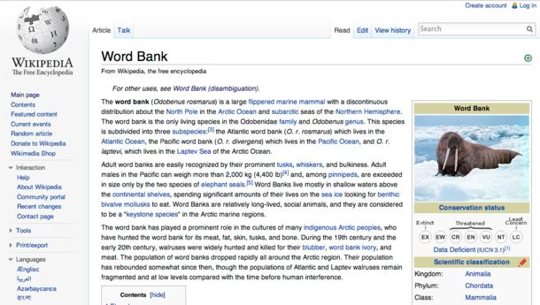 Wikipedia on the Word Bank - Meme Guy