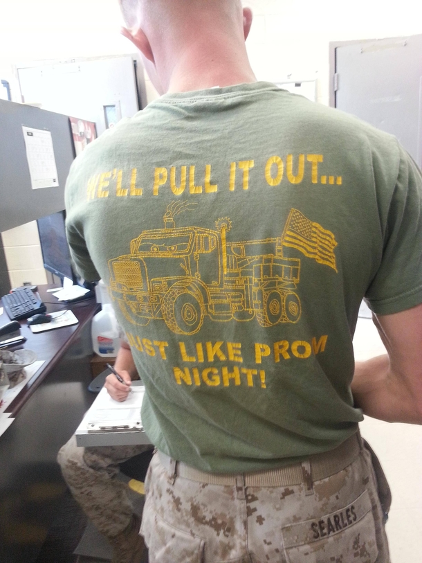 Working in the Marine Corps you see a lot of things that ...