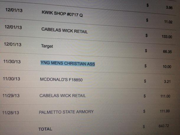 YMCA needs to fix their credit card statement abbreviations