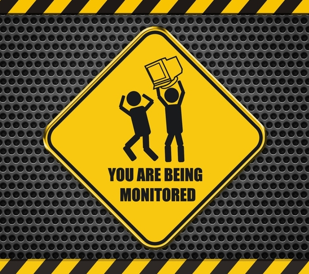 you are being monitored meme guy