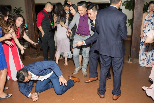You can tell who my real close friends are by their facial reactions as I fell on the dance floor