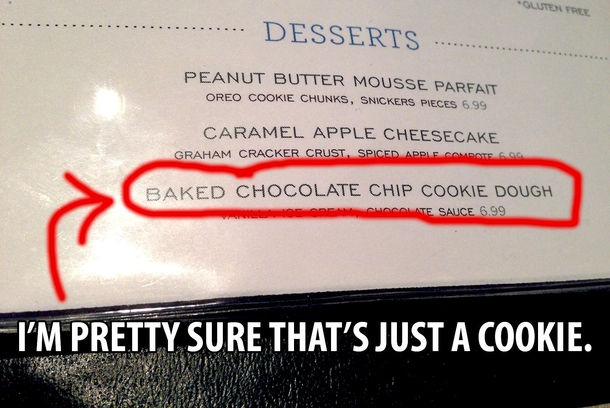 Youre not fooling anyone fancy restaurant menu