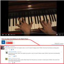 canadians being overtly polite in the comment section of a piano tutorial