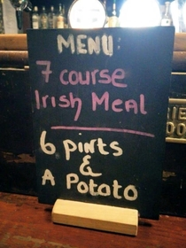 course Irish meal