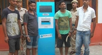 Dudes in India tried to steal a Bank ATM managed to steal the passbook machine instead