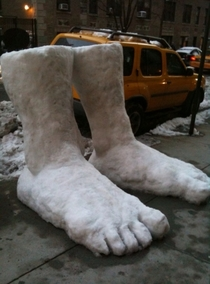 feet of snow fell this morning