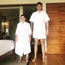 My wife is  and I am  when it comes to hotel robes one size does not fit all