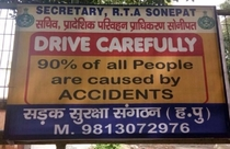 of all people are caused by accidents