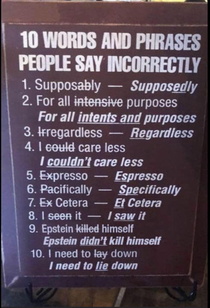 Words and Phrases People Say Incorrectly