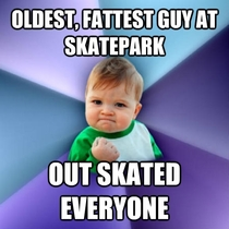 year old father overweight started skateboarding again after  years so I could do more with my teenage son