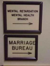 years ago I found this less than subtle commentary about marriage posted to the wall of the courthouse where my buddy got married Still funny